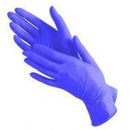 Перчатки нитриловые фиолетовые (уп. 50 пар)