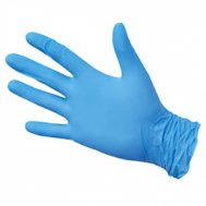 Перчатки нитриловые голубые, размер L (1шт)